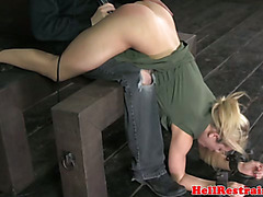 BDSM submissive gets her ass penetrated