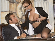Horny secretary Maddy OReilly gets tight pussy fuck by her boss