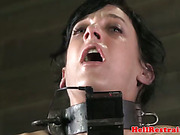 Collared sub getting pussy punished