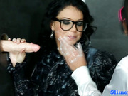 Gloryhole bukkake babes in glasses cumcovered
