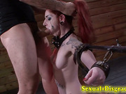 Bondage slave mouth fuck