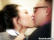 Asian stewardesses blow dudes