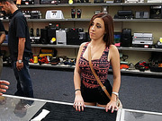 Attractive brunette Miami Hoodrat gets fucked by Shawn the shop owner