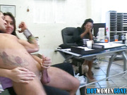 Fingered cfnm babes blow
