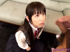 Petite squirting japanese cutie loves cock