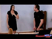Chubby housewife catching her neighbor  jerkoff