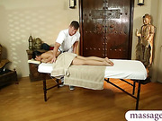 Asian beauty facialized by her masseur