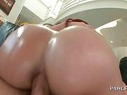 Big ass redhead enjoying anal penetration