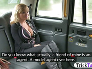 Big tits amateur twat screwed in the cab