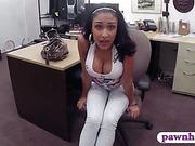 Huge boobs latina banged at the pawnshop