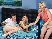 Watch horny stepmom Devon and Alli Rae gets nailed hard in threesome