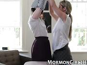 Mormon babe muffdives