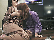 Pajama party that leads into lesbo sex