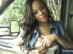 Diamond Monroe hitchhikes and pounded