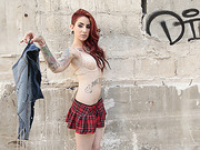 An intense anal sex in a deserted lot with Sheena Rose