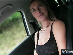 Huge boobs Alena twat railed by stranger in public location