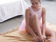 Ballerina Cassidy throated and fucked