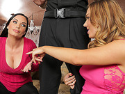 Hot babe Tiffany gets to give a blowjob to a police officer