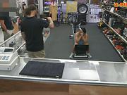 Ebony gym trainer banged at the pawnshop for some money
