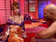 Images - Asian kimono milf loves bbc pounding her