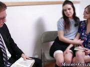 Mormon teen sucks dick