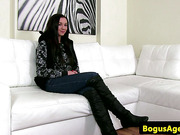 Sexcasting with embarassed european teenager