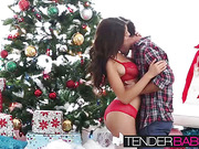 Pretty August Ames having passionate sex with her boyfriend