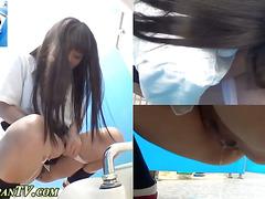 Japanese teens urinate