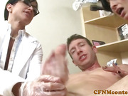 Mean dentists teasing guys cock