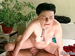 Old woman being fucked