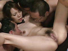 Perfect sensations in group hardcore for insolent Rino Asuka