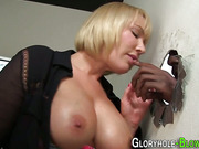 Slut takes big black dick