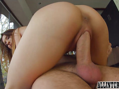 Closeup anal creampie for beautiful Taylor