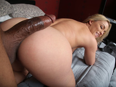 Krystal Carrington Gets Creampied By A Black Guy