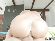 Messy pussy creampie for brunette Athina