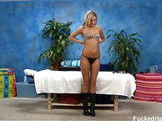Cute 18 year old Nadia Noir seduced and fucked hard after her free massage!