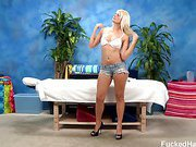 Sexy 18 year old Tosh Locks gets fucked hard from behind by her massage therapist
