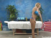 Cute 18 year old Natalie Vegas seduced and fucked hard by her massage therapist