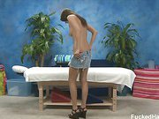 Erin Stone seduced and fucked hard by her massage therapist