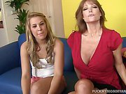 Kimberly And Her Mom Pleasure A Fat Cock