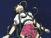 Hentai girl caught and brutally drilled by tentacles monster