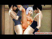 Roped 3d anime ghetto hard double penetration