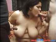 Two guys fuck and get oral sex