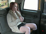 Charming redhead Ella gets a decent banging inside the cab