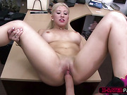 Gorgeous and hot stripper gets hammered by Shawn in his office