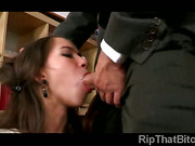 Poor Grace Young has to give her ass to keep her job