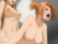 Busty hentai shemale trio gangbang