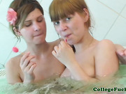 College lesbian threeway with Aspen and Kveta