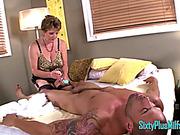 Granny MILF Massages Cock