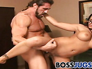 Horny employee fucks his boss Eva Angelina